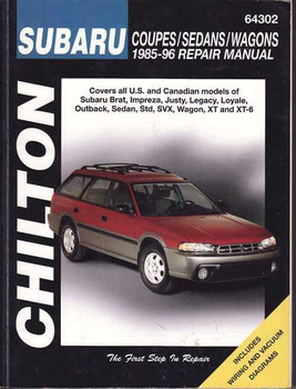 Subaru Coupes, Sedans, Wagons, Impreza, Liberty 1985 - 1996 Workshop Manual