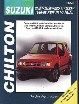 Suzuki Samurai, Sidekick, Tracker 1986 - 1998 Workshop Manual