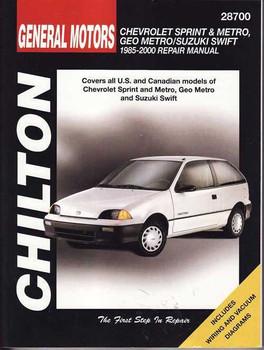 Suzuki Swift (Chevrolet Sprint, Metro, GEO Metro) 1985 - 2000 Workshop Manual
