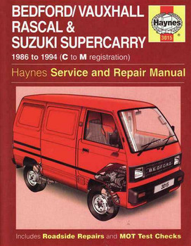 Suzuki Supercarry & Bedford Rascal 1986 -1994 Workshop Manual