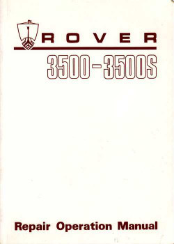 Rover 3500 - 3500s Workshop Manual