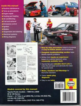 Toyota Prado 1996 - 2006 Workshop Manual back cover