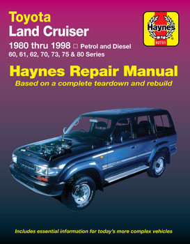 Toyota Land Cruiser FJ & FZJ Series 1980 - 1998 Workshop Manual