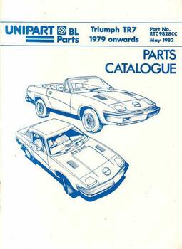 Triumph TR7 1979 Onwards Parts Catalogue