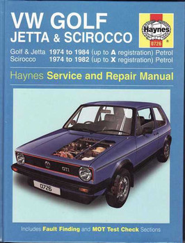 Volkswagen Golf, Jetta & Scirocco (Mk I) 1974 - 1984 Workshop Manual