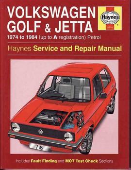 Volkswagen Golf & Jetta (Mk I) 1974 - 1984 Workshop Manual