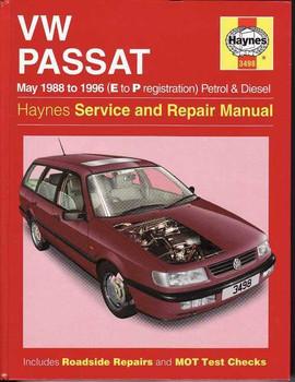 Volkswagen Passat 1988 - 1996 Workshop Manual