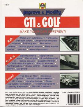 Improve and Modify Volkswagen Golf & Jetta (Mks I & II) Including GTI