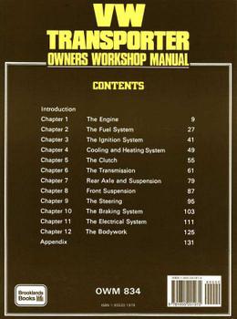 Volkswagen Transporter 1954 - 1967 Workshop Manual