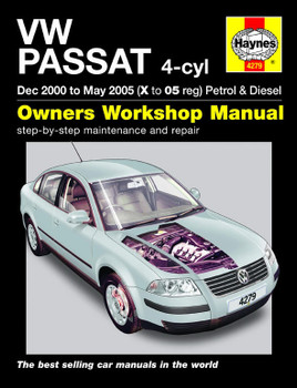 VW Passat Petrol & Diesel (Dec 2000 - May 2005) Haynes Repair Manual