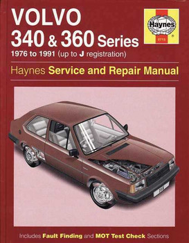 Volvo 340 & 360 Series 1976 - 1991 Workshop Manual
