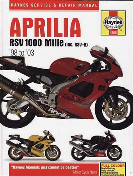 Aprilia RSV 1000 Mille & RSV-R 1998 - 2003 Workshop Manual