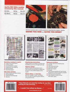 Aprilia RSV 1000 Mille & RSV-R 1998 - 2003 Workshop Manual