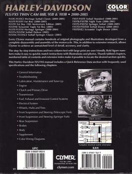 Harley-Davidson FLS/FXS TWIN CAM 88B 95B and 103B 2000 - 2005 Workshop Manual