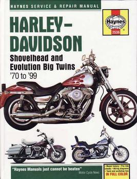 Harley-Davidson Shovelhead and Evolution Big Twins 1970 - 1999 Workshop Manual