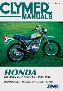 Honda 100-350cc OHC Singles Motorcycle (1969-1982) Service Repair Manual
