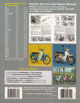 Honda C50, C70 and C90 1967 - 2003 Workshop Manual