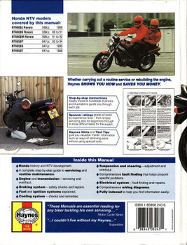 Honda NTV600 Revere & NTV650 V-Twins 1988 - 1996 Workshop Manual