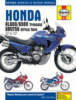 Honda XL600-650V Transalp & XRV750 Africa Twin (1987 - 2007) Haynes Repair Manual