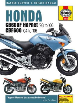 Honda CB600F Hornet and CBF600 1998 - 2006 Workshop Manual