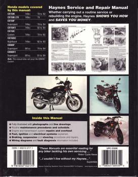 Honda CB750 & CB900 DOHC Fours 1978 - 1984 Workshop Manual