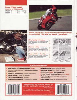 Honda VFR800 V-Fours 1997 - 1999 Workshop Manual