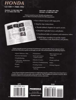 Honda GL1500 1988 - 1992 Workshop Manual