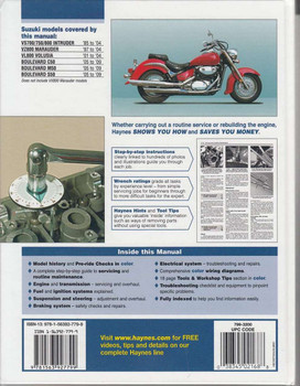 Suzuki intruder, Marauder, Volusia and Boulevard Workshop Manual Back