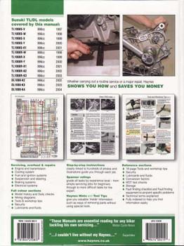 Suzuki TL1000S, TL1000R & DL1000 V-Strom 1997 - 2004 Workshop Manual