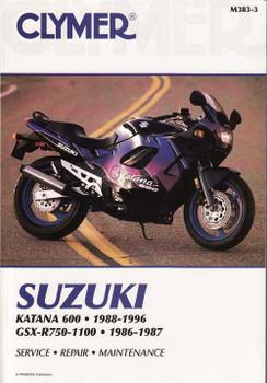 Suzuki Katana 600 & GSX-R750, GSX-R750R, GSX-R1100 1986 - 1996 Workshop Manu