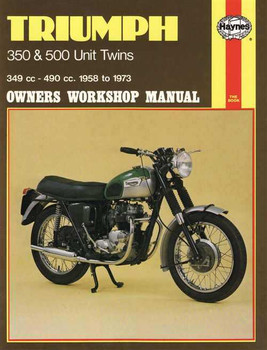 Triumph 350 & 500 Unit Twins 1958 - 1973 Workshop Manual