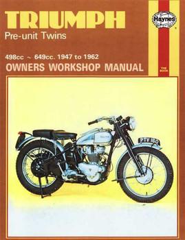 Triumph Pre-unit Twins 498cc - 649cc 1947 - 1962 Workshop Manual