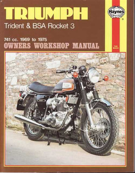 Triumph Trident & BSA Rocket 3 741cc 1969 - 1975 Workshop Manual