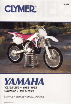 Yamaha YZ125, YZ250, YZ250WR, WR250Z 1991 - 1993 Workshop Manual