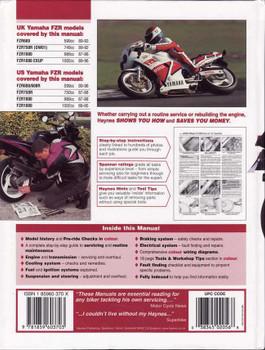 Yamaha FZR600, FZR750 & FZR1000 Fours 1987 - 1996 Workshop Manual