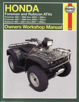 Honda Foreman 400, 500 & Rubicon 500 ATVs 1995 - 2007 Workshop Manual