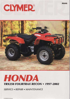 Honda TRX250 Fourtrax Recon ATVs 1997 - 2002 Workshop Manual