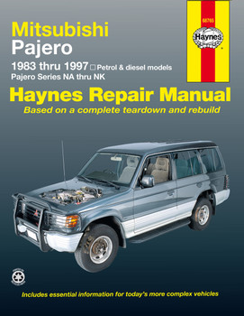 Mitsubishi Pajero NA thru NK, Petrol and Diesel 1983 - 1997 Workshop Manual