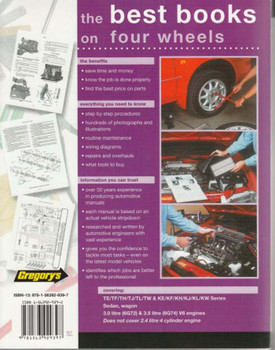 Mitsubishi Magna TE TF TH TJ TL TW and Verada KE KF KH KJ KL KW 1996 - 2005 Workshop Manual Back Cover