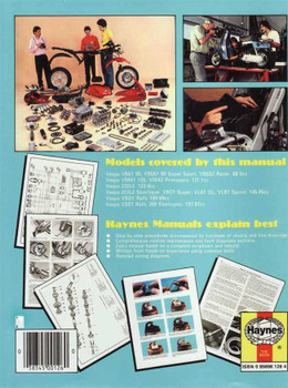 Vespa Scooters 90, 125, 150, 180 and 200cc 1959 - 1978 Workshop Manual