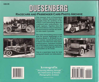 Duesenberg Racecars And Passenger Cars Photo Archive