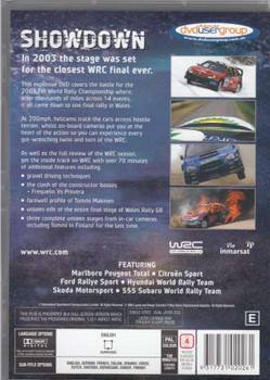 FIA World Rally Championship: Showdown DVD back