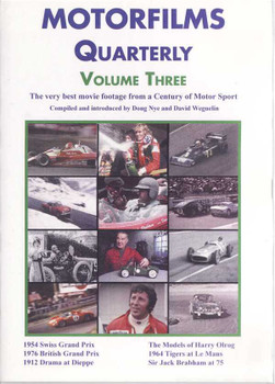 Motorfilms Quarterly Volume Three DVD