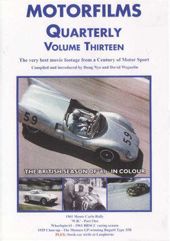 Motorfilms Quarterly Volume Thirteen DVD