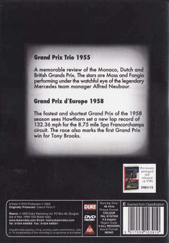 Grand Prix Trio 1955 - Grand Prix D'Europe 1958: A Castrol Classic DVD