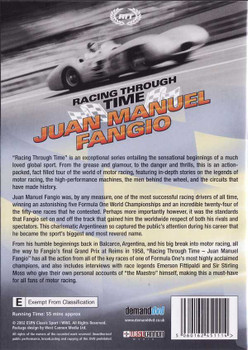 Racing Through Time: Juan Manuel Fangio DVD