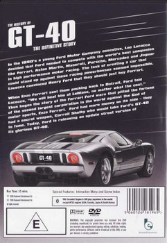 The History of GT - 40: The Definitive Story DVD