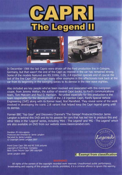 Capri: The Legend II DVD