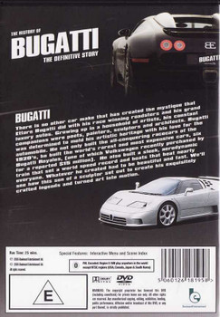 The History of Bugatti: The Definitive Story DVD