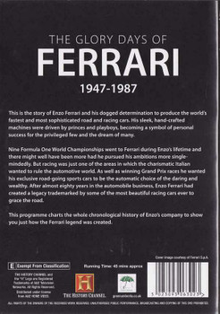 The Glory Days of Ferrari 1947 - 1987 DVD